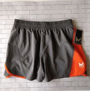 NWT Mission Orange Gray Iron Training Shorts M